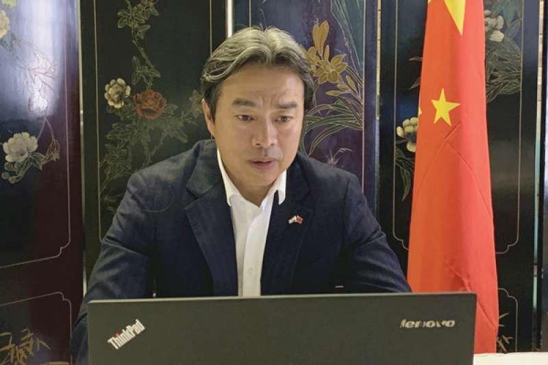 中國駐以色列大使杜偉,5月12日與以國官員舉行視訊會議(中國駐以色列大使館)