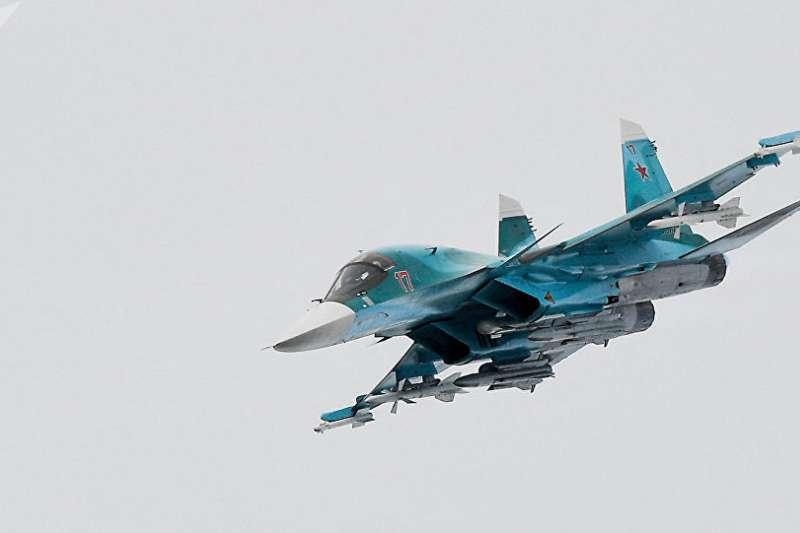 俄羅斯的蘇-34戰機。(Sputnik / Evgeniy Odinokov)