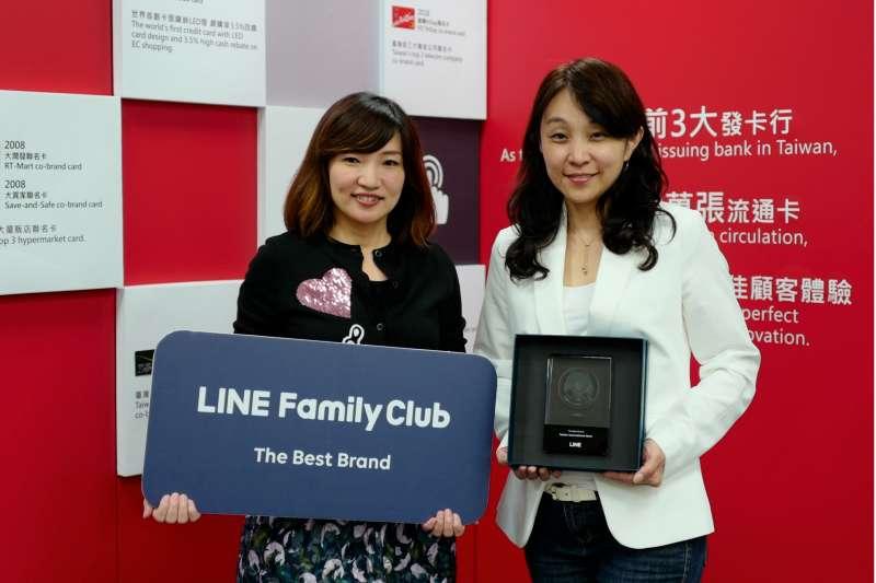 台新銀創新洞察需求獲「LINE Family Club - The Best Brand」殊榮。(台新金控提供)
