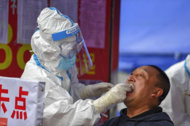 中國吉林省吉林市因為爆發疫情,當地已經封城,舒蘭市、豐滿區則被列為疫情「高風險區」。(美聯社)