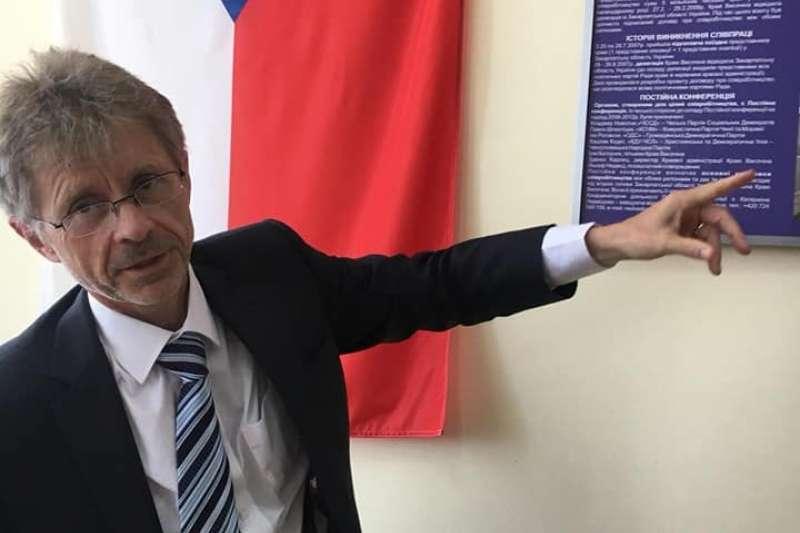 捷克參議院議長韋德齊。(翻攝臉書)