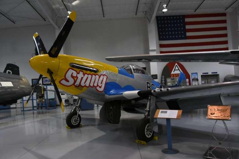 由北美公司研發的P-51D野馬式戰鬥機,是二戰期間美國陸軍航空軍性能最優越的戰鬥機,無論是在亞洲還是歐洲戰場都打遍天下無敵手。(許劍虹提供)