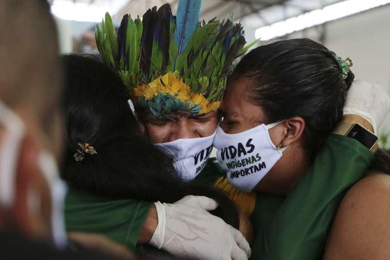 巴西疫情持續延燒,確診數飆升至全球第三高。(AP)