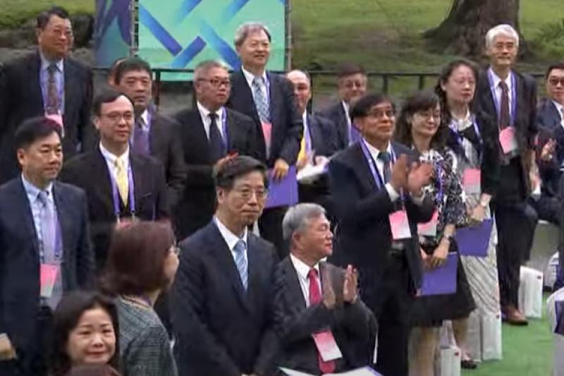 總統蔡英文在520就職演說中,特別點名口罩國家隊及防疫英雄表達感謝。(資料照,取自總統府直播影片)