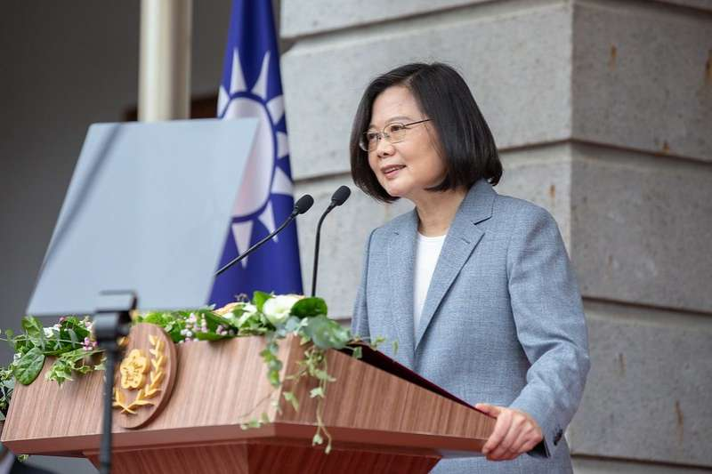總統蔡英文20日上午宣誓就職,並於台北賓館發表就職演說。(取自總統府flickr)