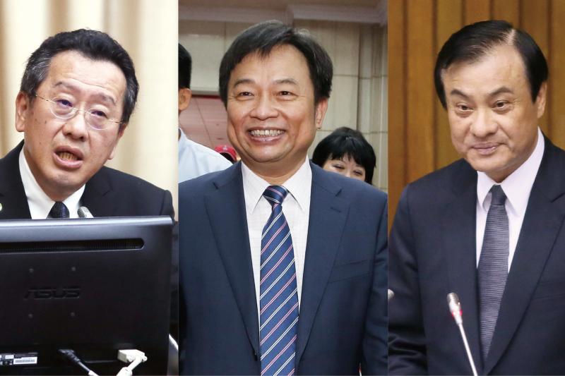 顧立雄(左)、林錫耀(中)、蘇嘉全(右)三人擔當新政府的三大秘書長,有著眼現在,也有瞄準未來。(合成圖)