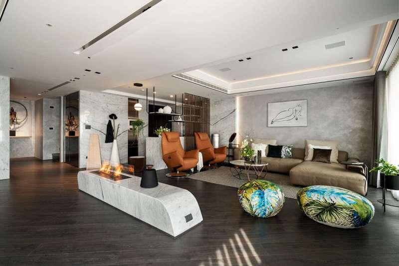豐聚室內設計以「觀雲」奪得美國MUSE室內設計鉑金獎(圖/豐聚室內設計提供)