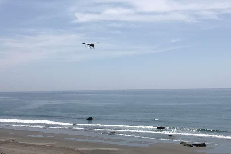 無人機可以用於各種海上應用,例如船舶檢測、赤潮檢測和監視、邊境巡邏、海上污染跟蹤以及颶風監視等。圖為海巡署無人機。(取自海巡署)