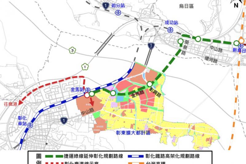 台中捷運綠線延伸大坑、彰化可行性報告已經再次送交通部審查。(圖/台中市政府提供)