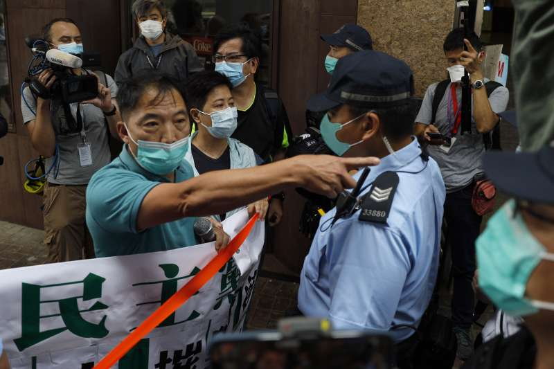 2020年5月22日,中國強推「港版國安法」,香港市民上街頭抗議(AP)