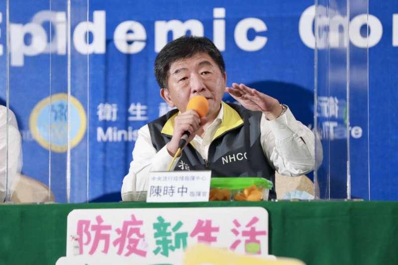 疫情指揮中心指揮官陳時中他也提到,過去這140天來,忙到只跟太太吃2次飯。(中央流行疫情指揮中心提供)