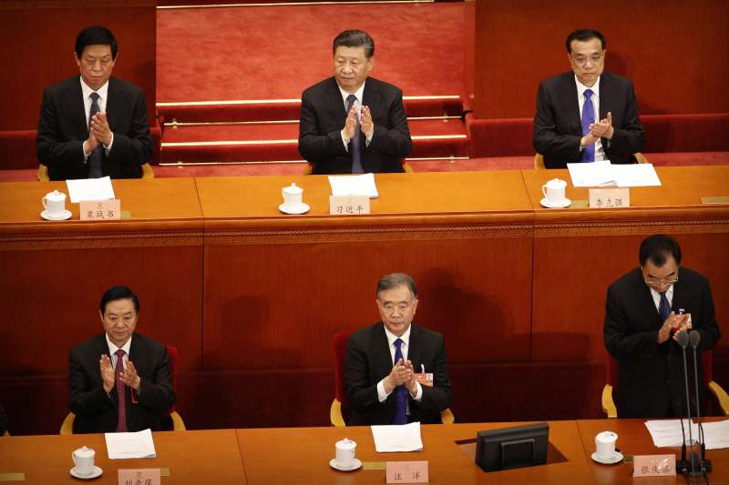 2020年中國兩會。5月21日,中國政協13屆三次會議開幕,習近平、李克強、栗戰書、汪洋出席會議。(AP)