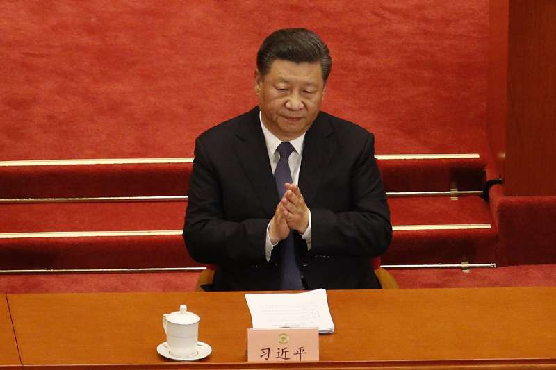 中國國家主席習近平2017年指出,「堅持一個中國原則,維護九二共識遏制台獨分裂活動,絕不允許任何人以任何形式、任何名義把台灣從祖國分裂出去。」(資料照,AP)