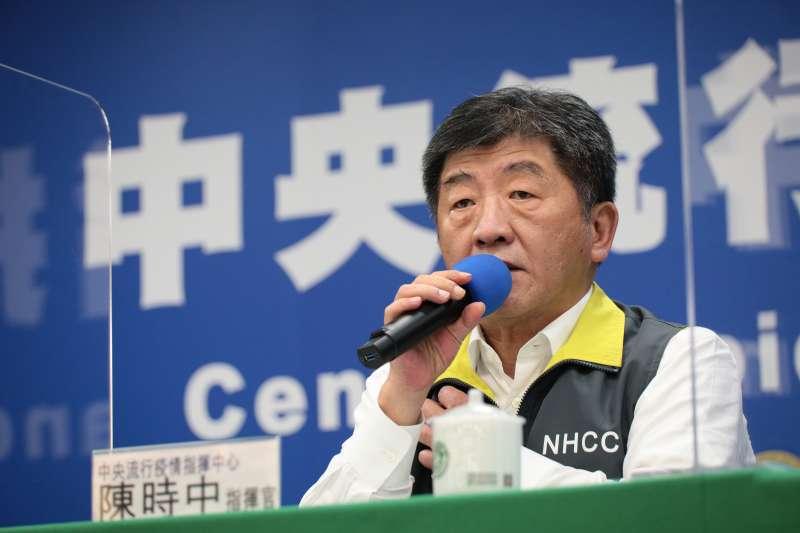 根據台灣民意基金會民調指出,中央流行疫情指揮中心指揮官陳時中(見圖)備受人民推崇,91.9%國人對陳時中有好感。(資料照,中央流行疫情指揮中心提供)