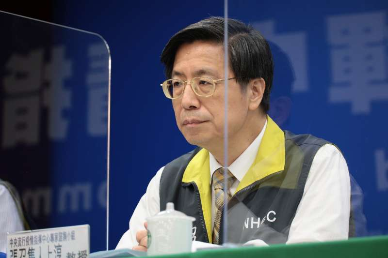 中央流行疫情中心專家諮詢小組召集人張上淳(見圖)25日表示,中國此次疫苗人體試驗的結果,對我國疫苗的研發也是個參考。(指揮中心提供)