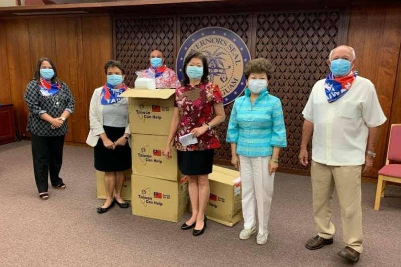 組國際隊打國際盃,口罩外交援助到關島(周艾齊提供)