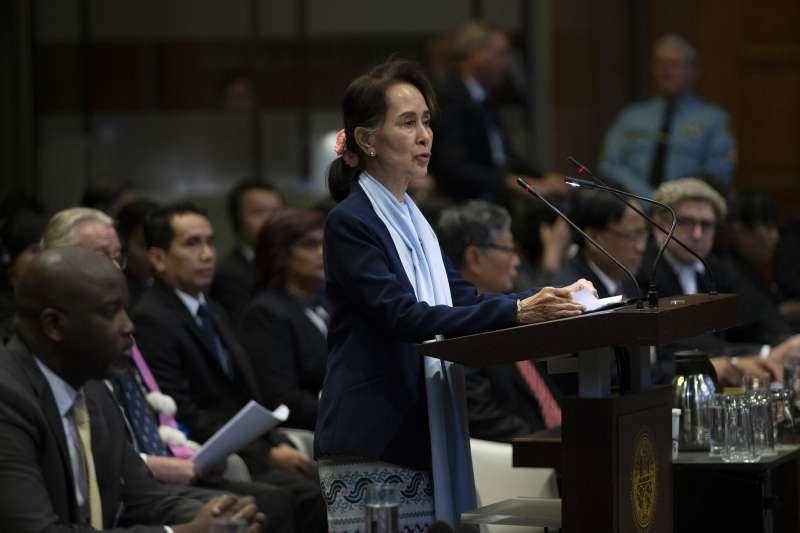 緬甸國務資政翁山蘇姬。(AP)