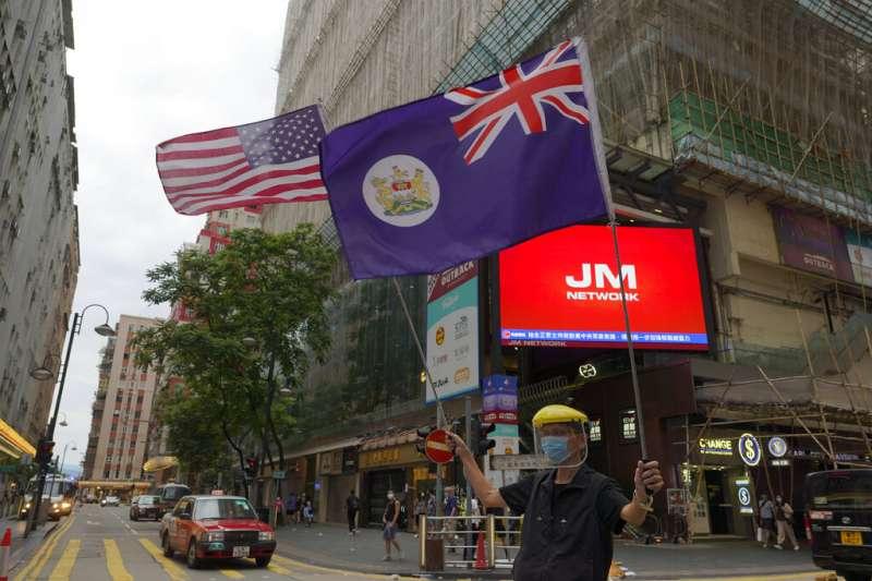 「港版國安法」與《國歌條例》爭議最近讓香港的反中抗爭再起。(資料照,美聯社)