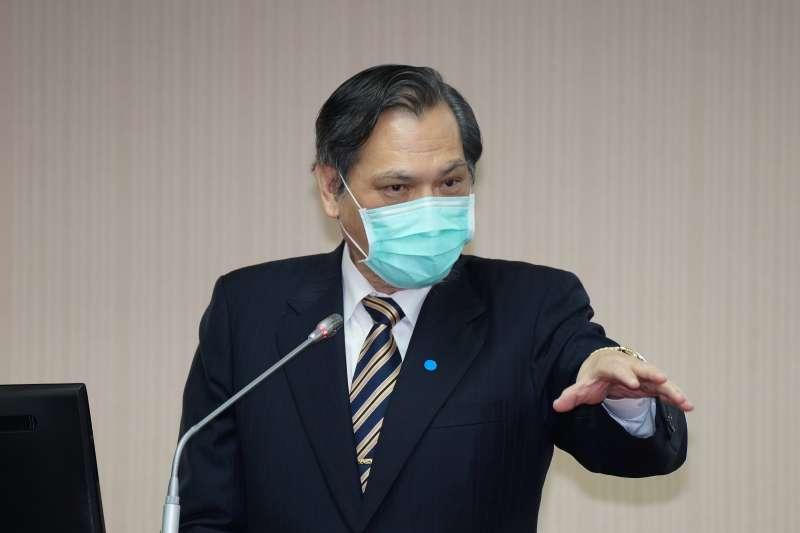 20200528-陸委會主委陳明通28日於內政委員會備詢。(盧逸峰攝)
