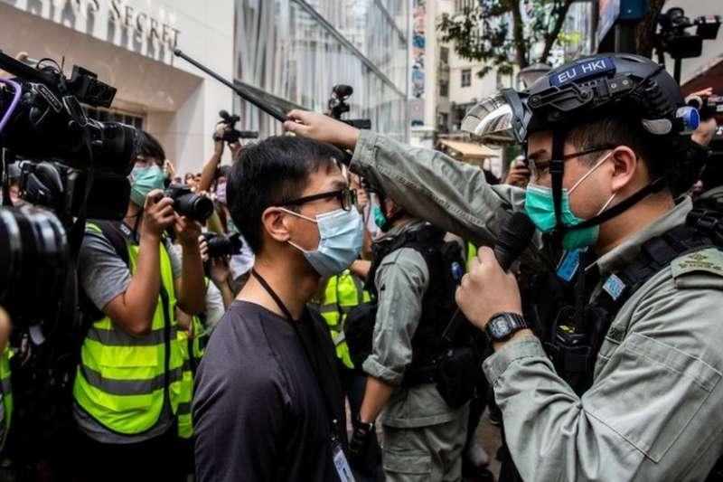 北京強推港版《國安法》已在香港引發多次示威。(BBC中文網)