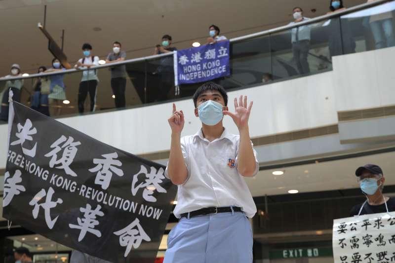 港版國安法爭議,在香港引爆新一波抗爭潮。(AP)