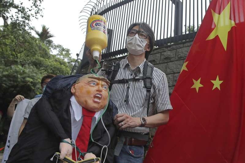 香港國安法爭議儼然成為美中新冷戰導火線。(AP)