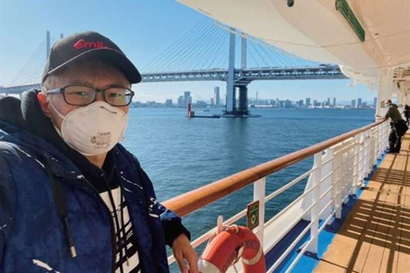 魔術師陳日昇在鑽石公主號郵輪上漂流。(圖/時報出版)