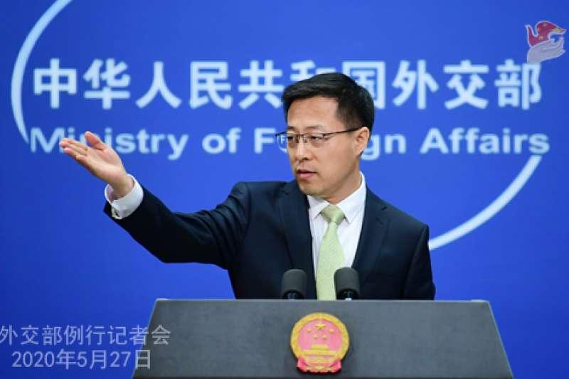 中國外交部發言人趙立堅。(中國外交部官網資料照)
