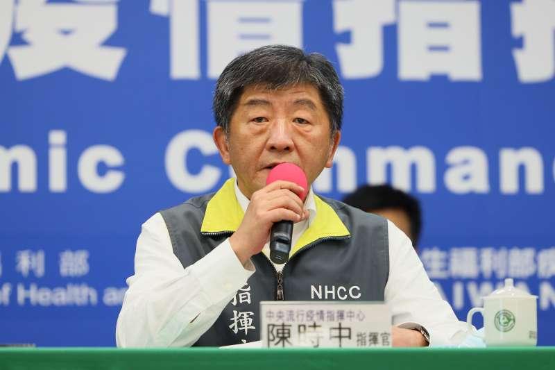 許多國家的首批開放名單未將台灣納入,疫情指揮中心指揮官陳時中(見圖)坦言,「政治因素」還是大於疫情和國家檢疫量能的考量。(資料照,指揮中心提供)