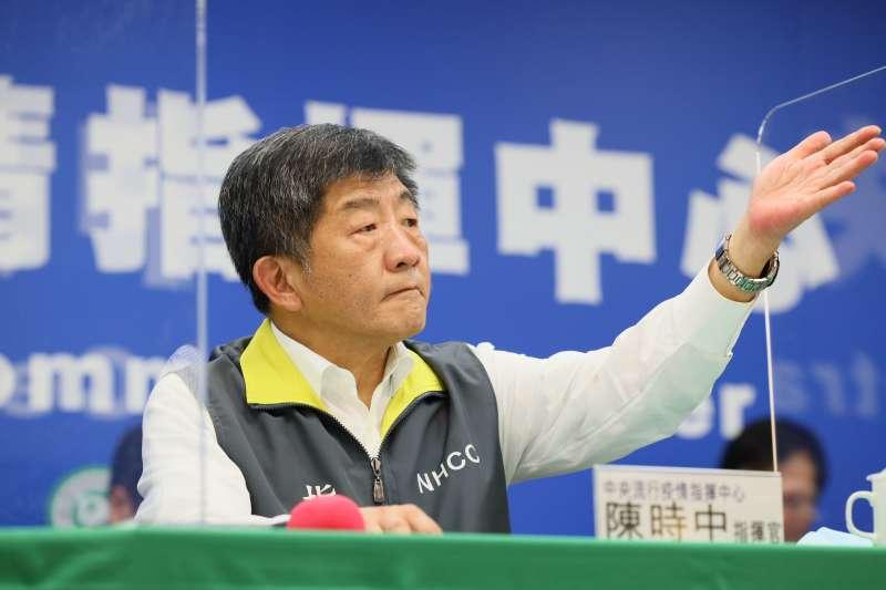 中央流行疫情指揮中心指揮官陳時中(見圖)宣布,台灣3日無新增新冠肺炎確診病例。(資料照,中央流行疫情指揮中心提供)