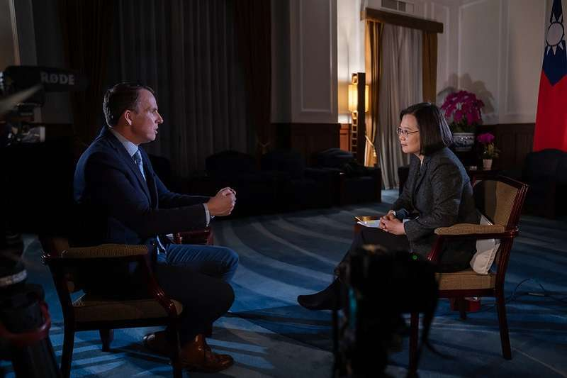 中共可能武統台灣根本不是新聞,蔡英文總統今年初接受BBC訪問就說「「任何時候你都不能排除戰爭的可能性…」。(總統府官網)