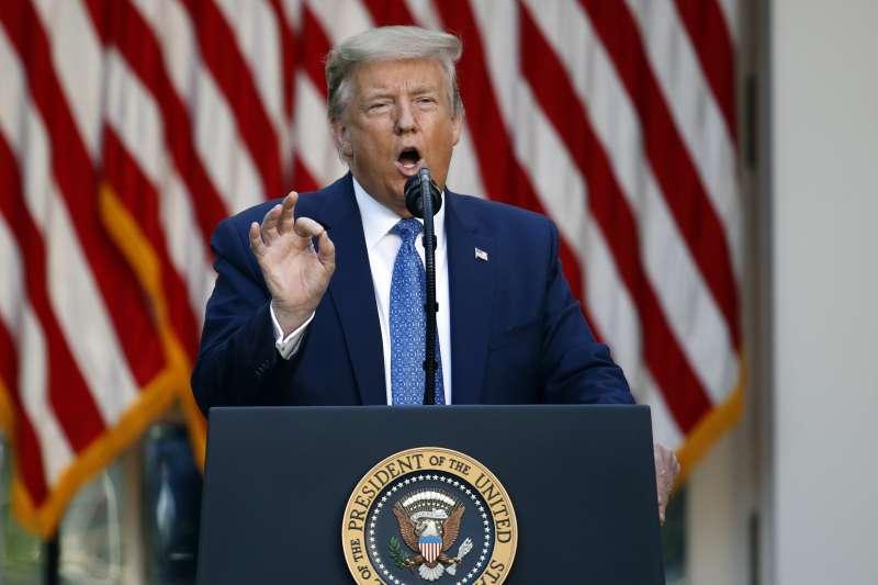 美國總統川普揚言派軍隊鎮壓示威(AP)