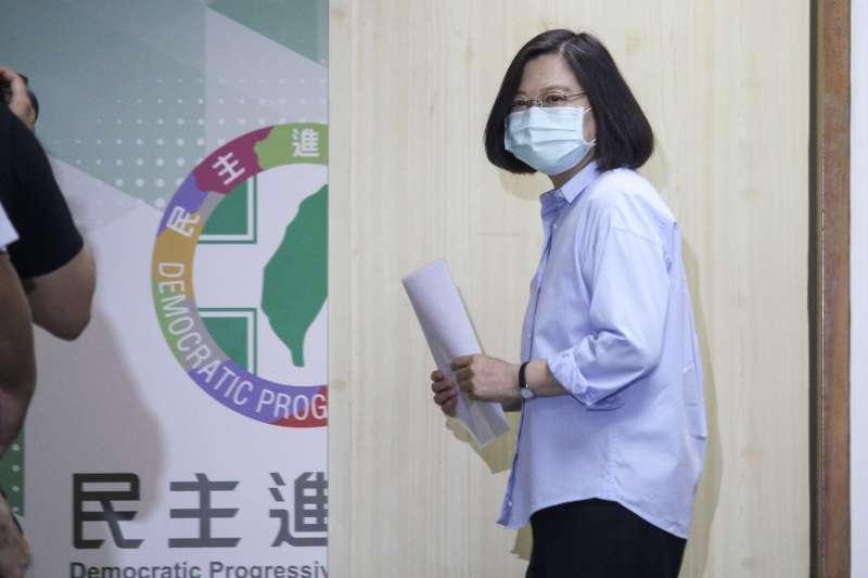 20200603-總統蔡英文出席民進黨中常會。(蔡親傑攝)
