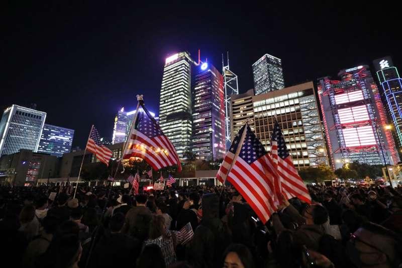 就地緣大局而言,香港自由自治能否撐住,關鍵是美國的態度與對策。(美聯社)