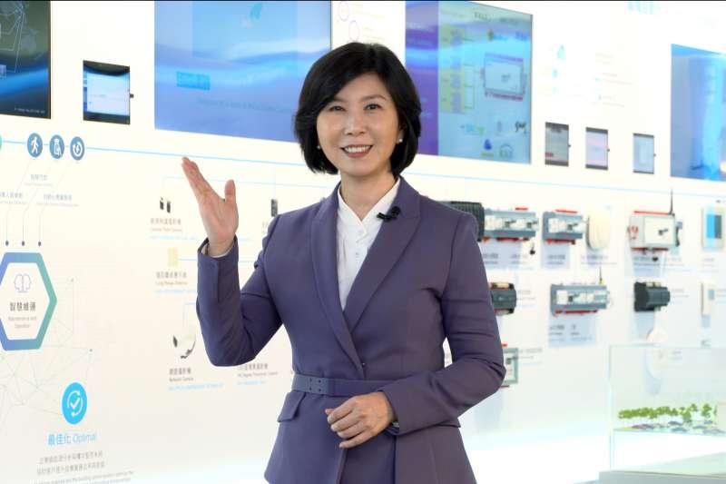 台達品牌長郭珊珊闡述此次COMPUTEX SMART WELL BEING的概念。(圖/台達提供)