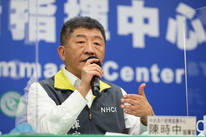 中央流行疫情指揮中心指揮官陳時中(見圖)宣布,台灣過去3天無新增新冠肺炎確診病例。(資料照,中央流行疫情指揮中心提供)