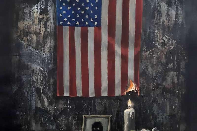 美國雖譽為「種族大熔爐」,但在種族議題上還是有許多問題。圖為英國塗鴉大師班克西(Banksy)新作品暗喻美國長期存在的種族問題。(資料ˋ照,翻攝Instagram)