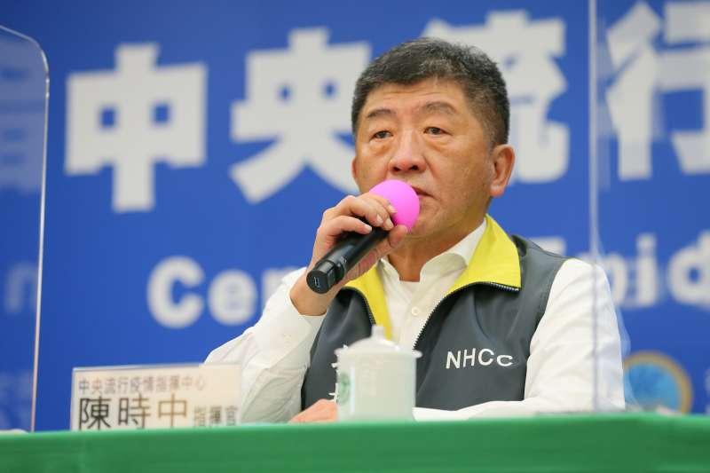 對於媒體詢問是否想參選新北市長或台北市長?衛福部長陳時中(見圖)笑答:「既然(人氣)都下滑了,還怎麼想這個?」(資料照,指揮中心提供)