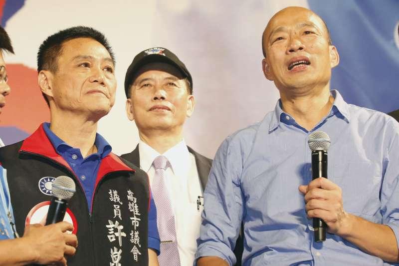 高雄市議長許崑源(左)在罷韓投票當晚墜樓身亡,外界揣測許崑源可能是他殺,法醫高大成反駁這種說法。(資料照,郭晉瑋攝)
