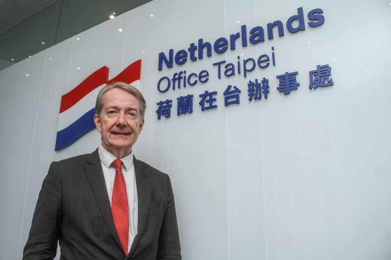 20200611-荷蘭駐台代表紀維德11日接受專訪。(蔡親傑攝)