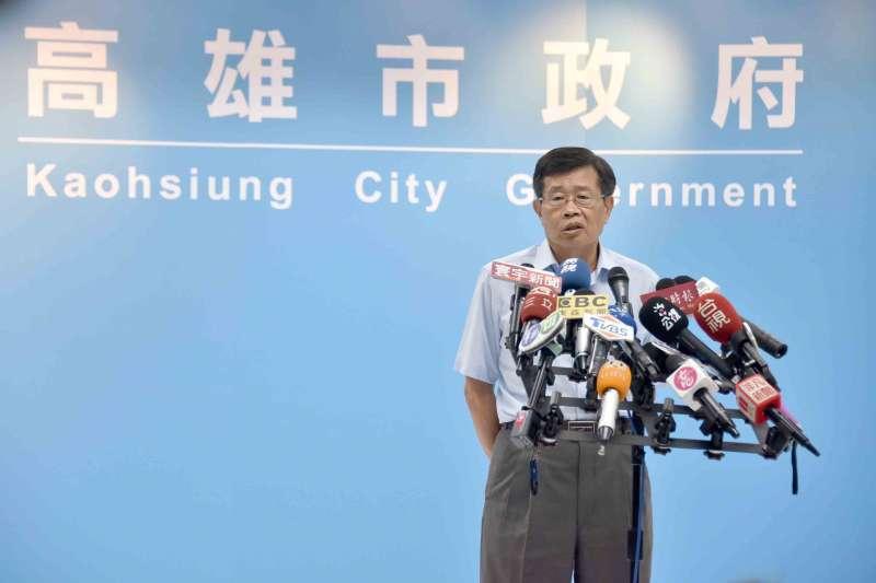 高雄市目前由曾任副市長的楊明州接任代理市長,但中選會訂定的補選日期卻引發藍綠兩黨的爭論。(高雄市政府提供)