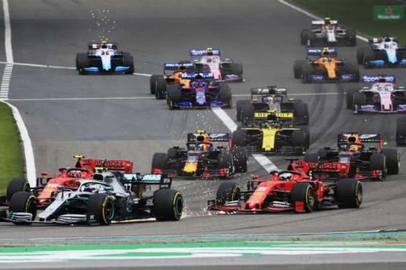 F1一級方程式賽車。(AP)