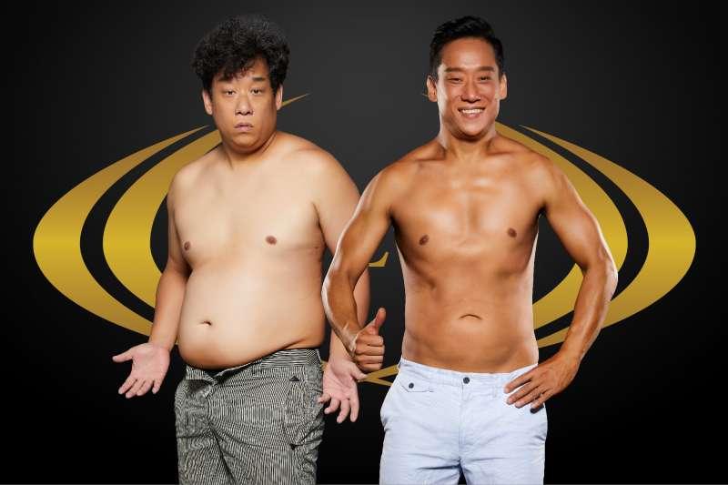 抗癌成功的藝人阿龐,日前參與健身減重計畫,短短半年之間減重23.6公斤。現在仍持續維持沒有復胖!(圖/RIZAP提供)