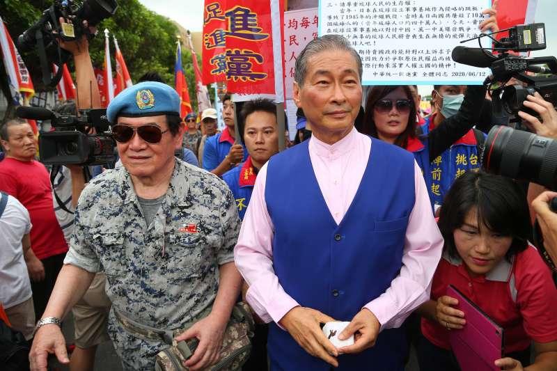 20200613-統促黨總裁張安樂13日出席挺韓團體凱道造勢活動。(顏麟宇攝)