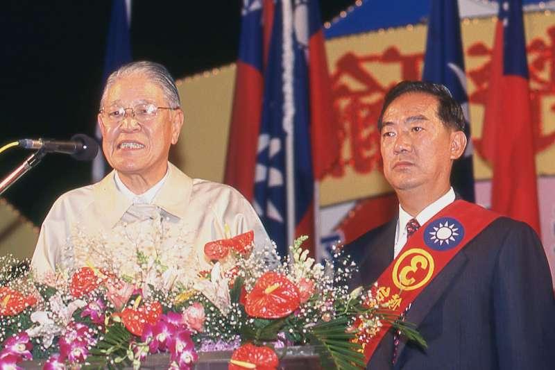 李登輝(左)、宋楚瑜(右)的裂痕已無法避免?(新新聞資料照)