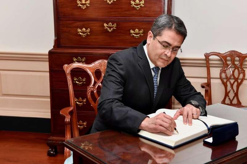 2018年資料照,宏都拉斯總統葉南德茲(Juan Orlando Hernandez)。(維基百科公有領域)