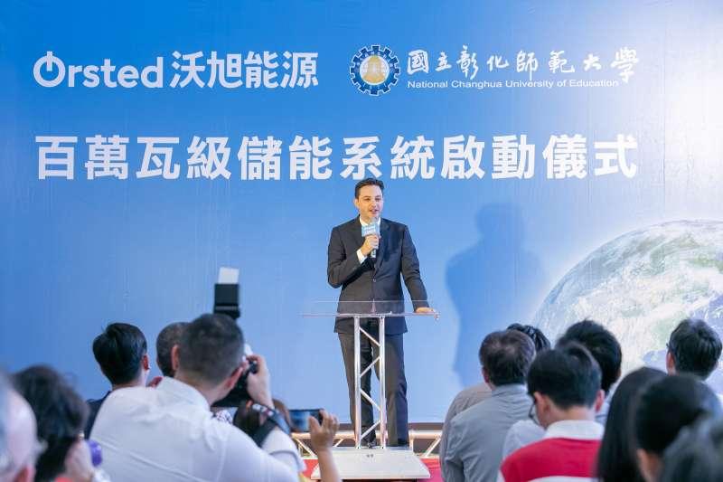 沃旭能源亞太區總裁柏森文(Matthias Bausenwein) 表示沃旭能源運用近30年離岸風電的專業與分享全球最佳實務案例,致力在台灣推動離岸風電產業價值鏈發展以及建構完整的再生能源生態系。(圖/沃旭能源提供)