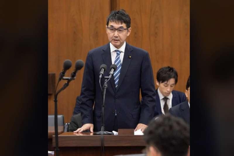 日本前法務大臣河井克行。(翻攝河井克行臉書)