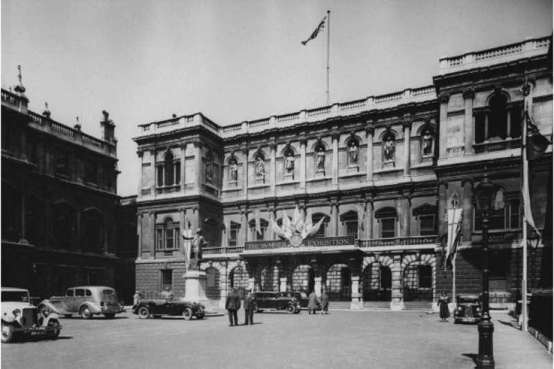 1935年「中國藝術國際展覽會」展於倫敦皇家藝術學院伯靈頓府。(作者提供)