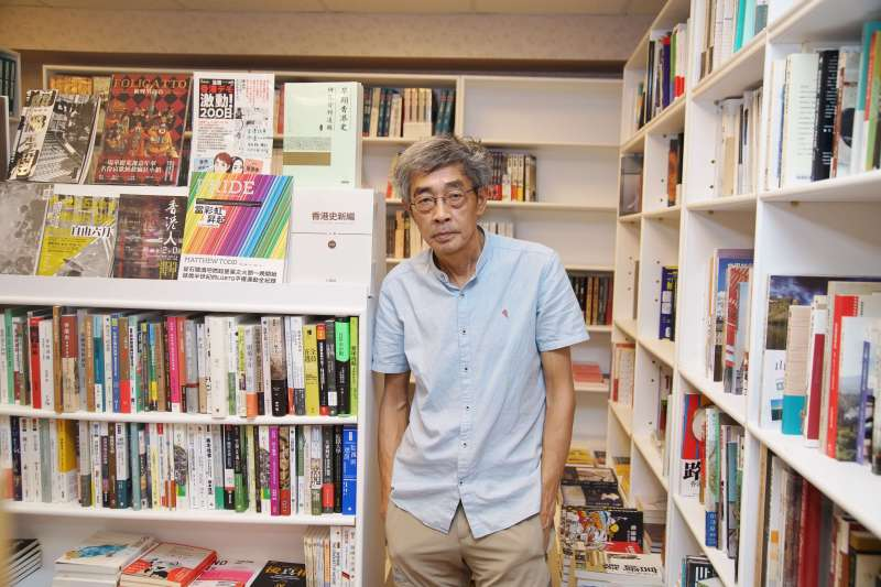 20200618-銅鑼灣書店店長林榮基接受《風傳媒》專訪。(盧逸峰攝)
